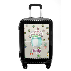 Cactus Carry On Hard Shell Suitcase (Personalized)