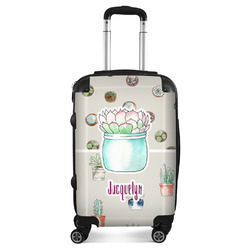 """Cactus Suitcase - 20"""" Carry On (Personalized)"""