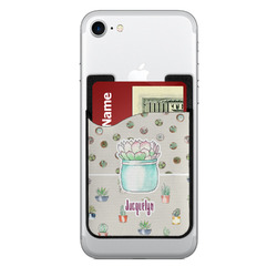 Cactus 2-in-1 Cell Phone Credit Card Holder & Screen Cleaner (Personalized)