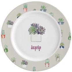 Cactus Ceramic Dinner Plates (Set of 4) (Personalized)