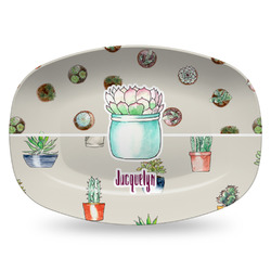 Cactus Plastic Platter - Microwave & Oven Safe Composite Polymer (Personalized)