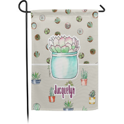 Cactus Garden Flag - Single or Double Sided (Personalized)