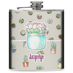 Cactus Genuine Leather Flask (Personalized)