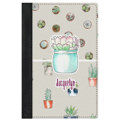 Cactus Genuine Leather Passport Cover (Personalized)