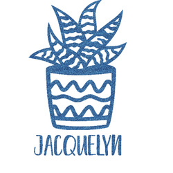 Cactus Glitter Sticker Decal - Custom Sized (Personalized)