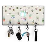 Cactus Key Hanger w/ 4 Hooks (Personalized)