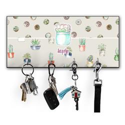Cactus Key Hanger w/ 4 Hooks w/ Name or Text