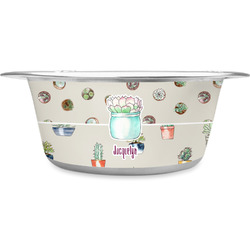 Cactus Stainless Steel Pet Bowl (Personalized)