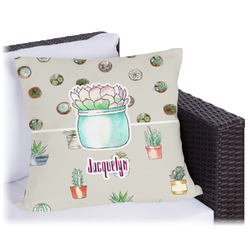 Cactus Outdoor Pillow (Personalized)