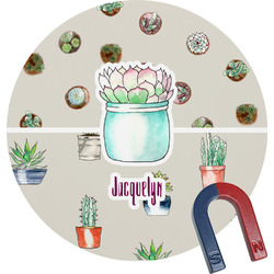 Cactus Round Magnet (Personalized)