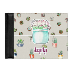 Cactus Genuine Leather Guest Book (Personalized)