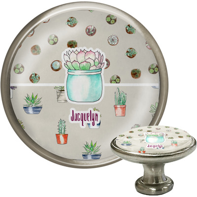 Cactus Cabinet Knob (Silver) (Personalized)
