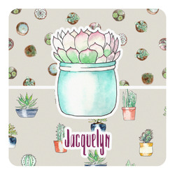 Cactus Square Decal - Medium (Personalized)