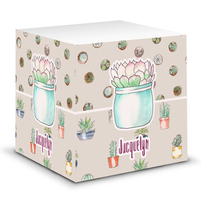 Cactus Sticky Note Cube (Personalized)