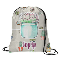 Cactus Drawstring Backpack (Personalized)