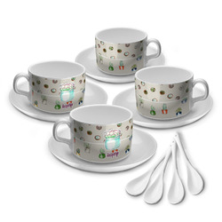 Cactus Tea Cup - Set of 4 (Personalized)