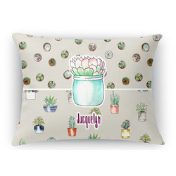Cactus Rectangular Throw Pillow Case (Personalized)