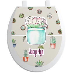 Cactus Toilet Seat Decal (Personalized)