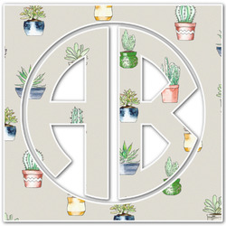 Cactus Monogram Decal - Custom Sized (Personalized)