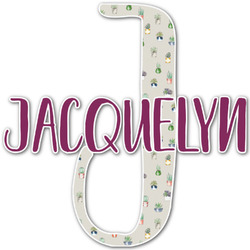 Cactus Name & Initial Decal - Custom Sized (Personalized)