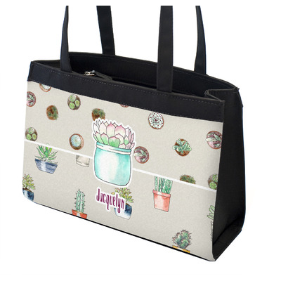 Cactus Zippered Everyday Tote w/ Name or Text