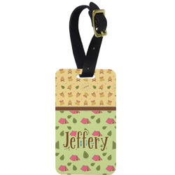 Summer Camping Metal Luggage Tag w/ Name or Text