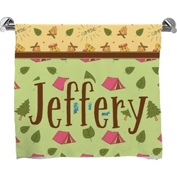 Summer Camping Full Print Bath Towel (Personalized)