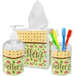 Summer Camping Acrylic Bathroom Accessories Set w/ Name or Text