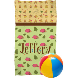 Summer Camping Beach Towel (Personalized)