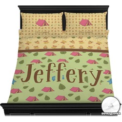Summer Camping Duvet Cover Set (Personalized)