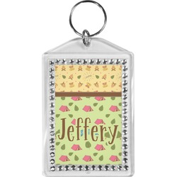 Summer Camping Bling Keychain (Personalized)