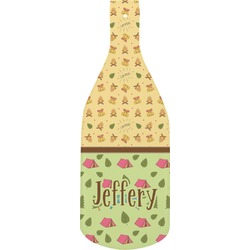 Summer Camping Bottle Shaped Cutting Board (Personalized)