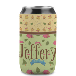 Summer Camping Can Sleeve (12 oz) (Personalized)