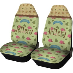 Summer Camping Car Seat Covers (Set of Two) (Personalized)