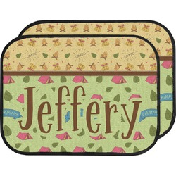 Summer Camping Car Floor Mats (Back Seat) (Personalized)