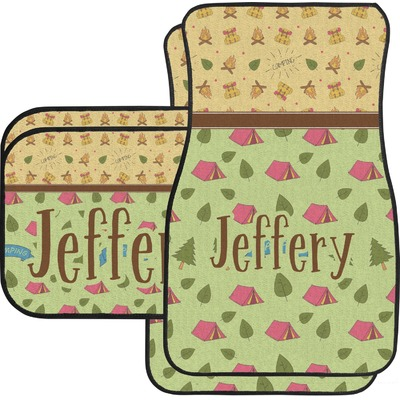 summer camping car floor mats set 2 front 2 back personalized youcustomizeit. Black Bedroom Furniture Sets. Home Design Ideas