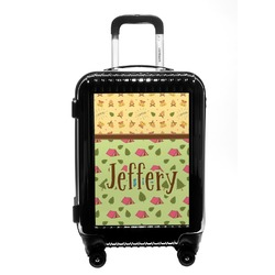 Summer Camping Carry On Hard Shell Suitcase (Personalized)