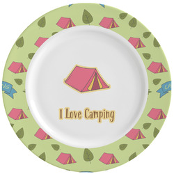 Summer Camping Ceramic Dinner Plates (Set of 4) (Personalized)