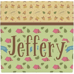 Summer Camping Ceramic Tile Hot Pad (Personalized)