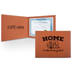 Summer Camping Leatherette Certificate Holder (Personalized)