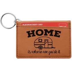 Summer Camping Leatherette Keychain ID Holder (Personalized)