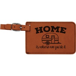 Summer Camping Leatherette Luggage Tag (Personalized)
