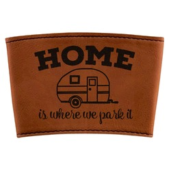 Summer Camping Leatherette Cup Sleeve (Personalized)