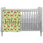 Summer Camping Crib Comforter / Quilt (Personalized)