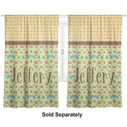 "Summer Camping Curtains - 20""x84"" Panels - Lined (2 Panels Per Set) (Personalized)"