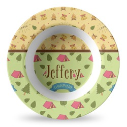 Summer Camping Plastic Bowl - Microwave Safe - Composite Polymer (Personalized)