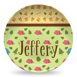 Summer Camping Microwave Safe Plastic Plate - Composite Polymer (Personalized)