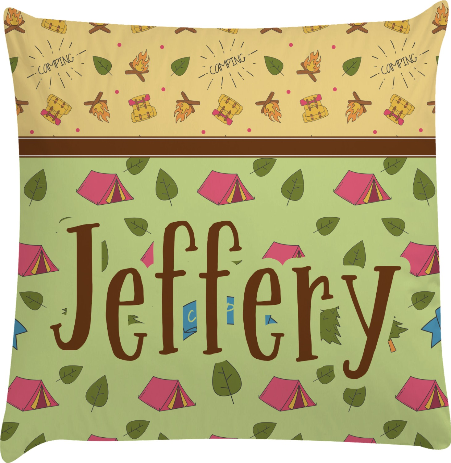 Summer Camping Decorative Pillow Case (Personalized) - You Customize It