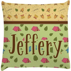 Summer Camping Decorative Pillow Case (Personalized)