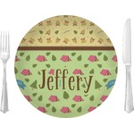 "Summer Camping Glass Lunch / Dinner Plates 10"" - Single or Set (Personalized)"